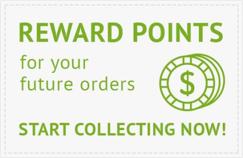 Reward points for your future orders Start Collecting Now!