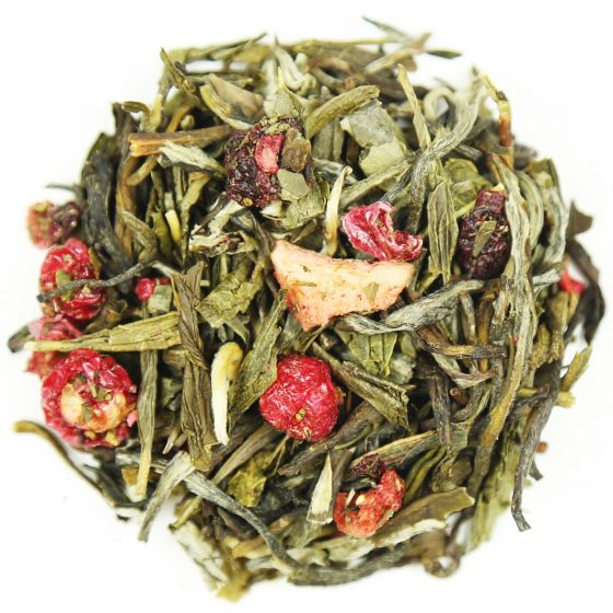 Orchid Berry Strawberry and Rhubarb Tea
