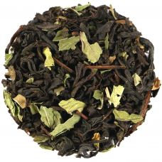Peppermint Black Tea with Herbal Leaves