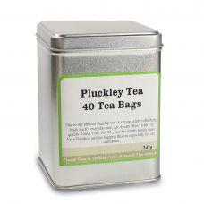 Pluckley Tea 40 Tea Bags Silver Caddy