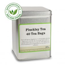 Pluckley Tea 40 Tea Bags Silver Caddy