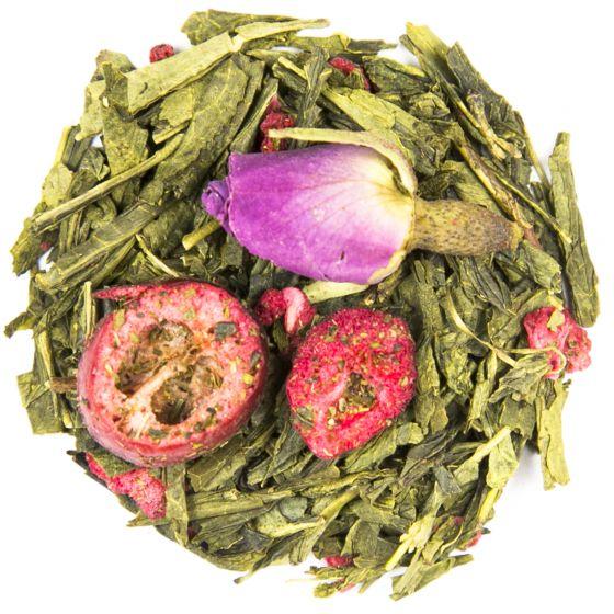 Cranberry Rose Green Sencha Tea