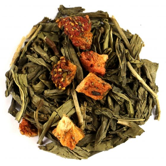 Strawberry Sencha Decaffeinated Green Tea