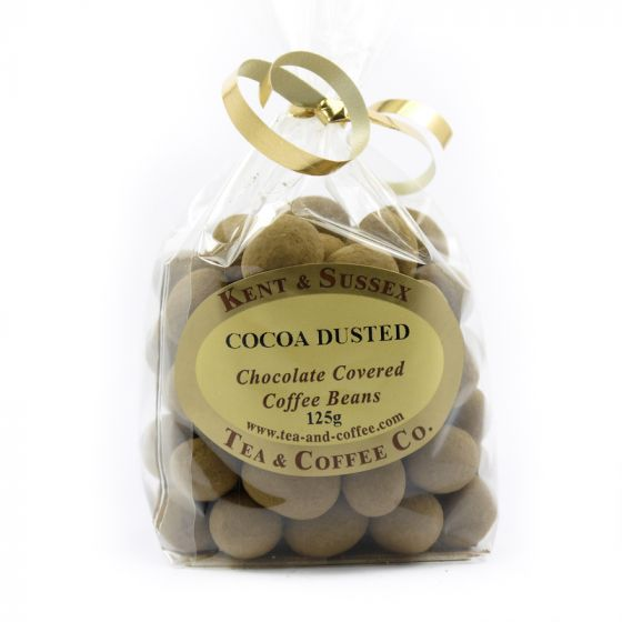 Dusted Cocoa Chocolate Covered Coffee Beans