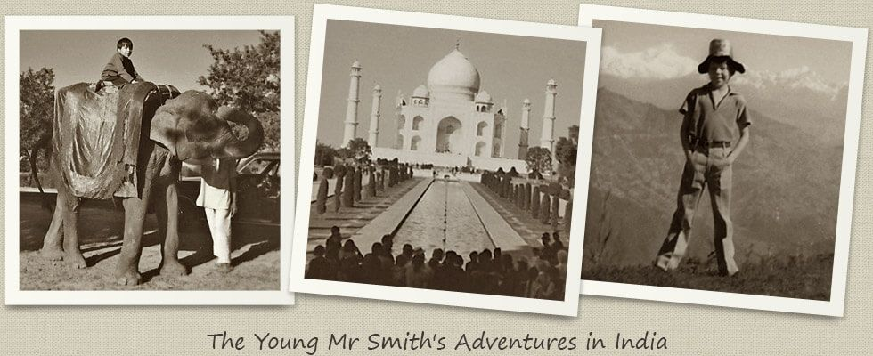 Mr Smith Riding an Elephant in Assam