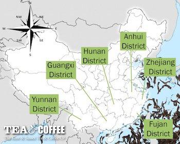 China Tea Map