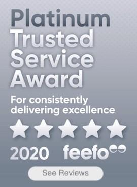 Feefo platinum trusted service 2020