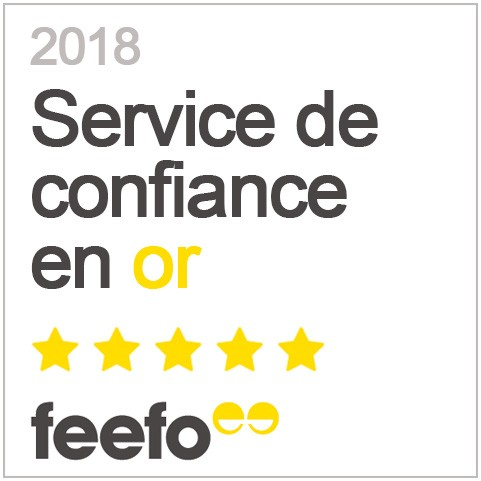 Service de confiance en or Feefo 2018