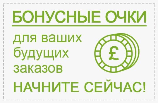 Бонусные баллы за ваши будущие заказы начните собирать сейчас!