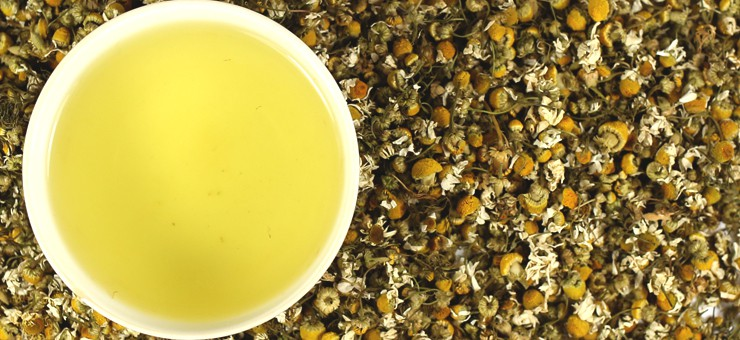 Camomile Tea with Camomile Flowers