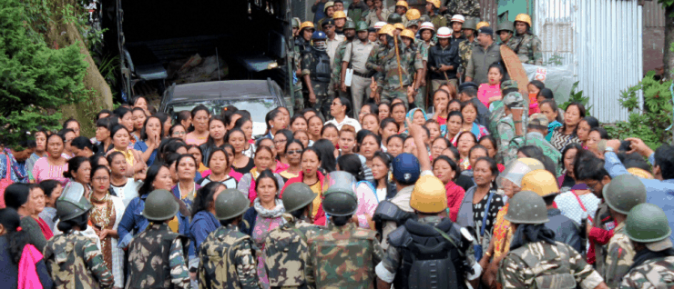 Protests in Darjeeling in India