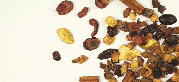 Apple Fig and Cranberry Fruit Tisane