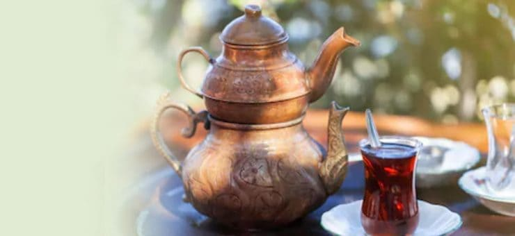 Tea Pots and Tea Glass Used in Turkey