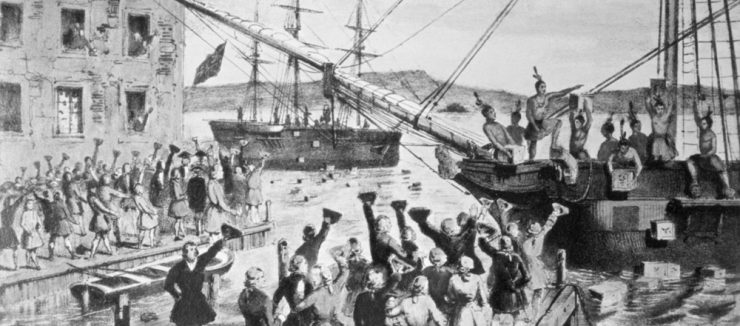 The Events of The Boston Tea Party