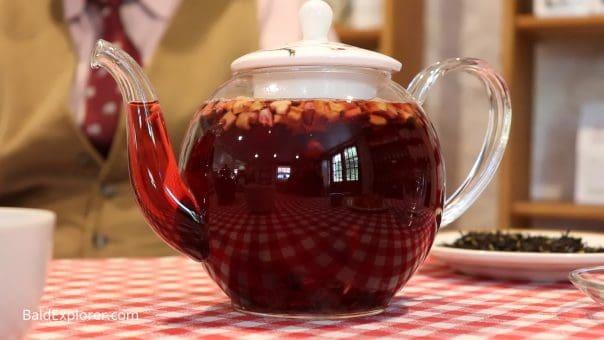 Fruit Tisane in a Tea Pot