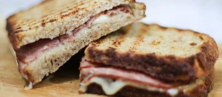 Ham and Mustard Sandwich