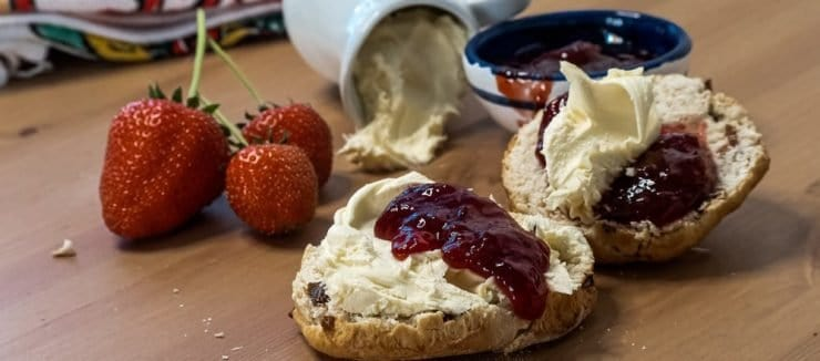 Afternoon Tea at Home Includes Jam, Cream and Scones